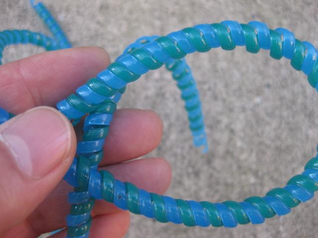 ケーブルラップ ブルーXグリーン